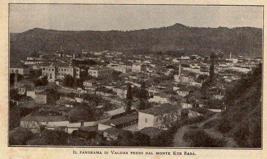 Panorama e Vlorës marrë nga mali Kus Baba