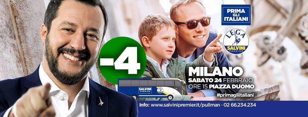 Lega Nord Italianët të parët Matteo Salvini 1