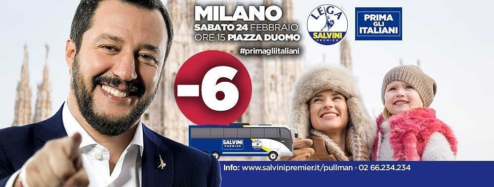 Lega Nord Italianët të parët Matteo Salvini 2
